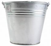 Beast Aluminiumeimer 5 Liter Wasser-Eimer Blecheimer Dekoeimer verzinkt