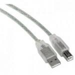 Connec´style USB 2.0 Anschlusskabel A-Stecker-B Stecker 1, 8 m Transparent