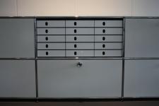 Styro System-Kasten weiß 5er passend für USM Haller Inos Papier-Ablage Regal Box