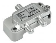 Hama BK-Verteiler Sat Kabel Antenne TV Splitter 2-fach 4-1000 MHz 1-2 F-Kupplung