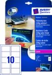 Avery Zweckform 100x Premium Visitenkarten mit Silberrand Satin Bögen A4 Drucker