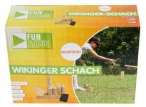 Kubb-Spiel Wurf-Spiel Rasen-Schach Wikinger-Schach Spielzeug Holz Garten Outdoor