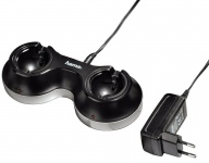 Hama Dual Dock Charger Lade-Station Netzlader für PS3 PS4 PS Move Controller Sub