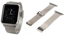 Hama Uhren-Armband Band Milanaise Edelstahl für Apple Watch iWatch 38mm 42mm