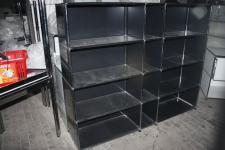 USM Haller Design Regal 12 Fächer 1, 5x1, 4m Sideboard schwarz Aktenregal Ordner
