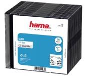 Hama 20x CD-Hüllen CD-ROM Slim Leer-Hülle BluRay DVD-Hüllen 20er Pack Jewel Case