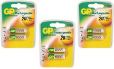 GP Batteries PROFI 6x AAA-Akku 1000 mAh Series 1, 2V Micro HR03 Batterie AAA Akku