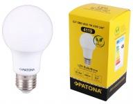 Patona LED-Lampe Glüh-Birne Ball E27 7W / 55W Warm-Weiß 3000K A60 Leuchtmittel