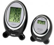 Hama Wetterstation EWS-100 Elektronisch Uhr Kalender Funk Schwarz Silber