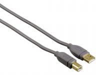 Hama 1m HQ USB-Kabel USB 2.0 A-Stecker B-Stecker A-B Verbindungskabel für Hub PC