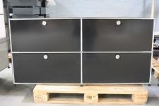 USM Haller Sideboard Regal schwarz 4 Fächer 2 Klappen 2Auszüge Ablage