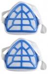 Beast 2x Atemschutzmaske Feinstaubmaske Schutz-Maske Gesichtsmaske Blau