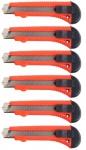 Beast Cuttermesser 6x Stück 18mm Teppich-Messer Abbrechklingen Paketmesser