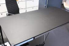USM Haller Lino Linoleum Tisch schwarz 175x75 cm Schreibtisch neuwertig 1, 75m