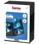Hama 5x DVD-Hüllen für 3 DVDs 3er 3-Fach Leer-Hülle Box Case CD DVD Blu-Ray Disc