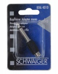 Schwaiger Audio-Adapter Kopfhörer-Adapter Mono 6, 3mm Klinke-Stecker Cinch RCA