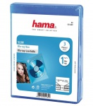 Hama 3x PACK Blu-Ray-Hüllen Slim 1er 1-Fach Leer-Hülle Box Boxen BluRay BD Disc