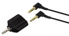 Hama 2-in-1 Stereo Kopfhörer Set HK-205 Headphone 3, 5mm Klinke Split-Adapter
