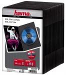 Hama 25x PACK Slim DVD-Hüllen 1er 1-Fach Leer-Hülle Box für CD DVD Blu-Ray Disc