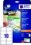 Avery Zweckform 150x Premium Visitenkarten 200g/m² matt 15x Bögen für A4 Drucker