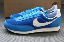 Nike Elite Leder Sneaker Gr. EUR 39 - 43 blau Schuhe low Turnschuhe SI Waffle