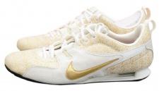 Nike SHOX Frenzi Sneaker Damen Gr.40, 5 - 42 GOLD Leder Schuhe WMNS Sport Rivalry