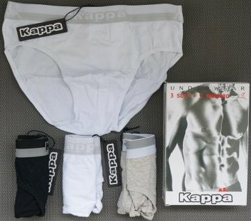 Kappa 4er Pack Unterhosen Herren Unterwäsche Größen S M L Slips Slip Unterhose