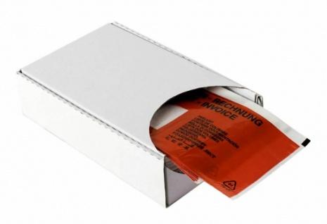 Rote Lieferschein-Taschen DIN lang Dokumenten-Taschen Begleitpapier-Hüllen Zoll