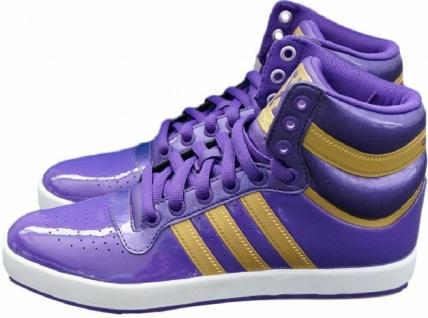 f1449916c37045 Adidas Originals Top X Mid High Sneaker Lila Lack Damen Schuhe Stiefel Boots