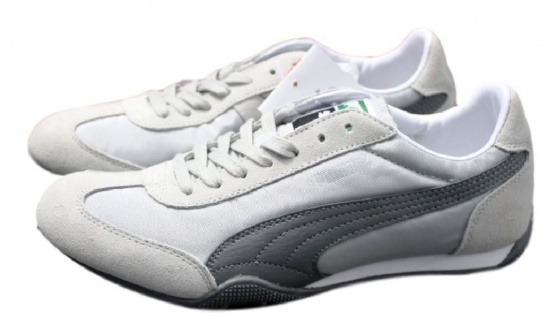 Puma 76 Runner Nylon Retro Sneaker Größe EUR 35 - 42 Grau Damen Schuhe Racer Cat