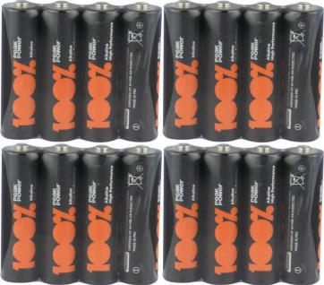 GP Peak-Power 100% AA-Batterie PACK 1, 5V Alkaline AA-Batterien Mignon LR06