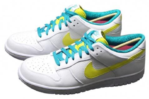 Nike Dunk Low Premium Gr EUR 44 + 45 Leder Sneaker Schuhe weiß Zoom Force 318764
