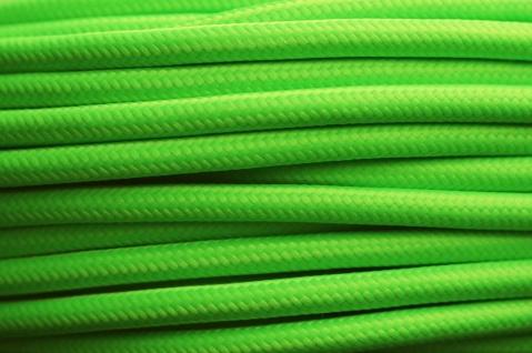 Textil Stromkabel Lampen-Kabel Stoff 3 x 0, 75mm² Neon Elektro Stromleitung - Vorschau 2