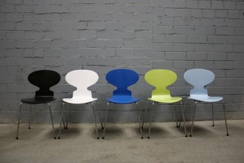 Design Fritz Hansen by Arne Jacobsen 3101 Stuhl Ameise Chair 4-Bein stapelbar - Vorschau 5