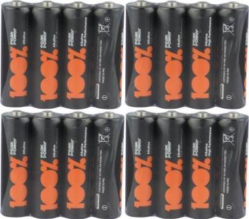 GP Peak-Power 100% AA-Batterie PACK 1, 5V Alkaline AA-Batterien Mignon LR06