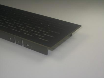 Lüftungsgitter Lochblech Aluminium Bronze eloxiert 410 x 80 mm
