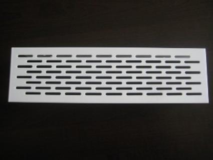 Lüftungsgitter Lochblech Aluminium 250 x 70 mm Weiß - Vorschau 1