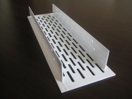 Lüftungsgitter Lochblech Aluminium 250 x 70 mm Weiß - Vorschau 3
