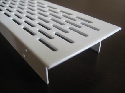 Lüftungsgitter Lochblech Aluminium 250 x 70 mm Weiß - Vorschau 2