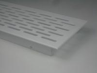 Lüftungsgitter aus Aluminium Weiß 750 x 70 mm
