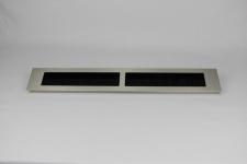 Kabeldurchführung aus Aluminium in Edelstahloptik 482 x 70 mm