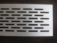 Lüftungsgitter Lochblech Aluminium Silber 750 x 70 mm