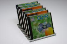 CD-Ständer Aluminium silber für 11 CD's