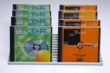 CD-Ständer Aluminium silber für 22 CD's