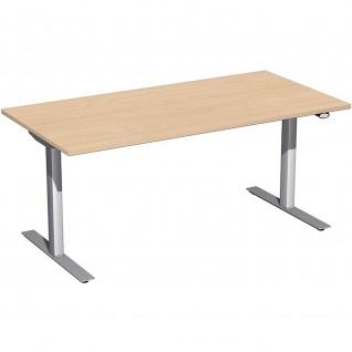 Elektro Flex Schreibtisch elektrisch höhenverstellbar 1600x800x650-1250cm diverse Dekore - Vorschau 3