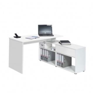 Schreibtisch Computertisch 4019, Push-to-open Schublade, 137x74x130cm