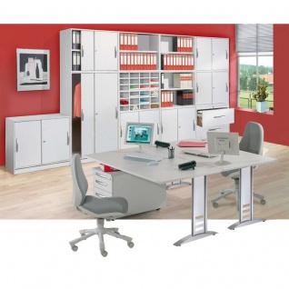 Büro Schreibtisch tec-art office 80x80 cm höhenverstellbar C-Fuß-Gestell