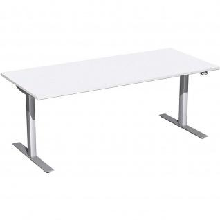 Elektro Flex Schreibtisch elektrisch höhenverstellbar 1800x800x650-1250cm diverse Dekore - Vorschau 2
