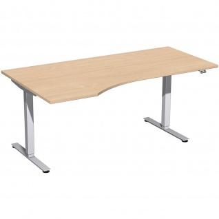 Elektro Smart Freiform-Schreibtisch rechts oder links elektrisch höhenverstellbar 1800x800/1000 mm diverse Dekore - Vorschau 4