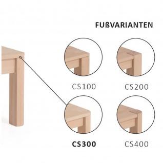 Moderner Massivholz Couchtisch CS100 mit Schublade, Kernbuche/Buche - Vorschau 3